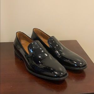 Aquatalia men's patent leather loafer